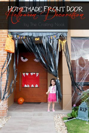 Homemade Front Door Halloween Decoration