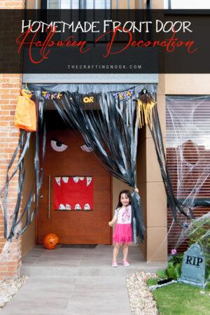 Homemade Front Door Halloween Decoration