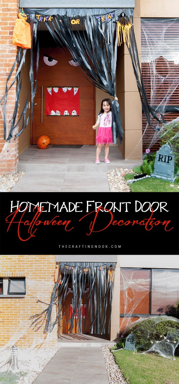 Spooky Homemade Front Door Halloween Decoration