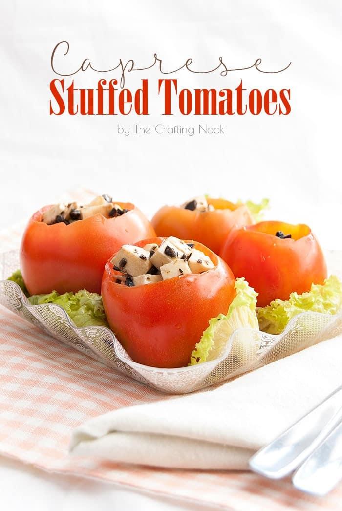 Delicious Caprese Stuffed Tomatoes #caprese #capresesalad #capreserecipe