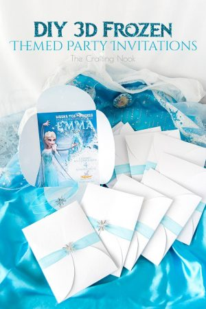 Gorgeous DIY 3d Frozen Themed Party Invitations