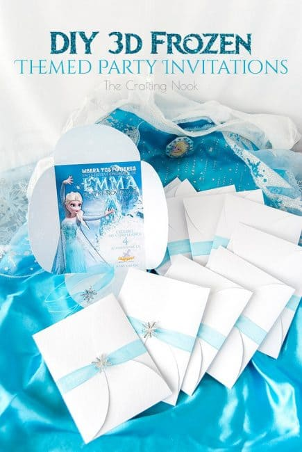 Gorgeous DIY 3d Frozen Themed Party Invitations