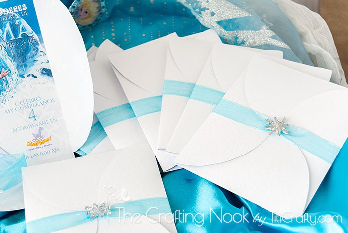 DIY 3d Frozen Themed Party Invitations
