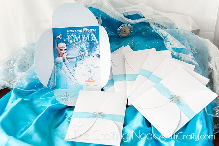 diy 3d frozen themed party invitations the crafting nook
