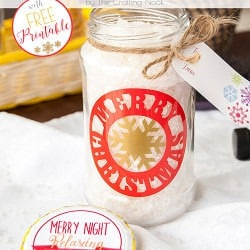 Awesome DIY Decorative Vinyl Christmas Gift Jar #christmasgifts #Christmaspresents #silhouettecameo #diychristmas
