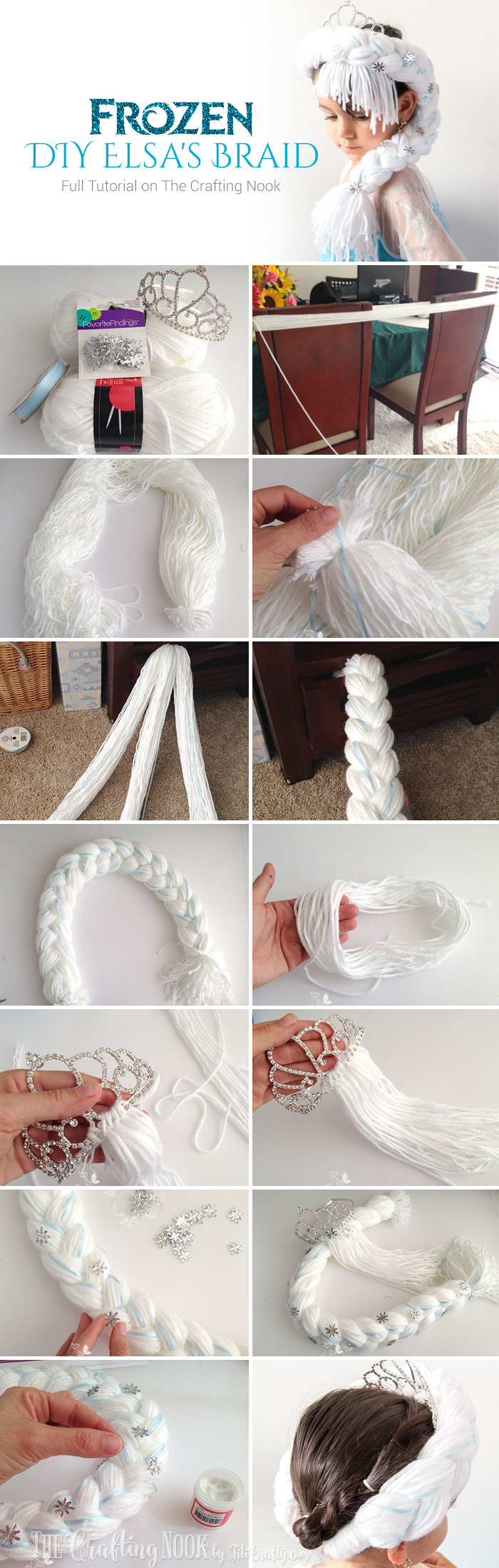 Cute Frozen DIY Elsa's Braid #frozen #frozenfever #frozenparty
