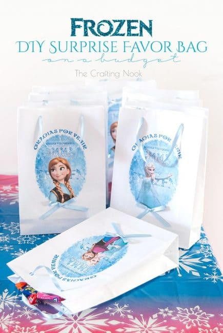 Pretty Frozen DIY Surprise Favor Bag on a budget