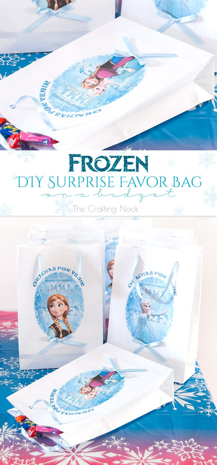 Frozen DIY Surprise Favor Bag on a budget