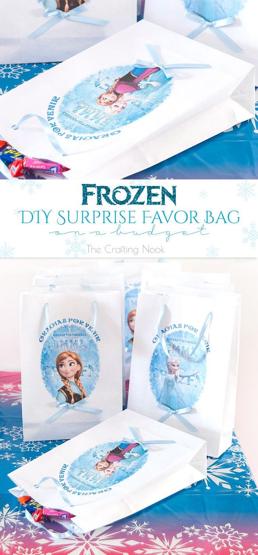 Frozen DIY Surprise Favor Bag on a budget