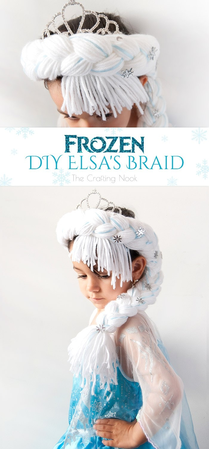 Frozen DIY Elsa's Braid #frozen #frozenfever #frozenparty