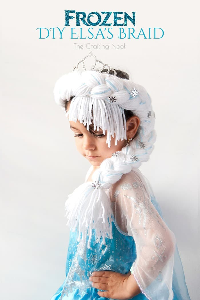 Cute and Easy Frozen DIY Elsa's Braid #frozen #frozenfever #frozenparty