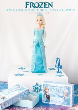 Creative Frozen Themed Cake Box and Individual Cake Boxes