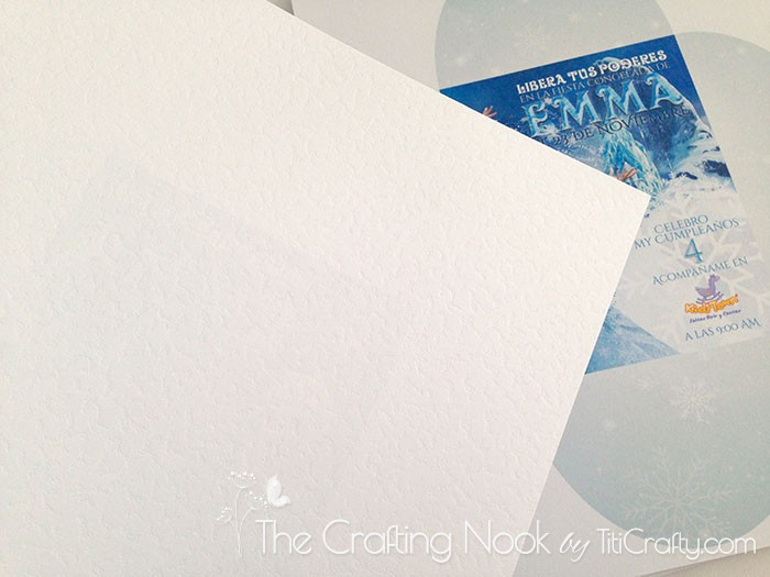 DIY 3d Frozen Themed Party Invitations | The Crafting Nook