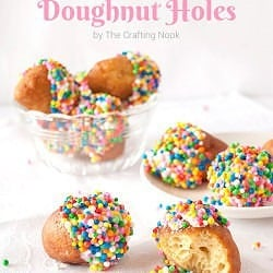 Delicious White Chocolate Glazed Doughnut Holes