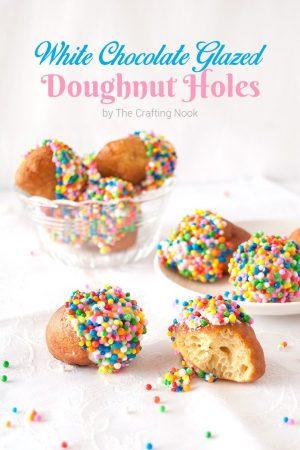 White Chocolate Glazed Doughnut Holes