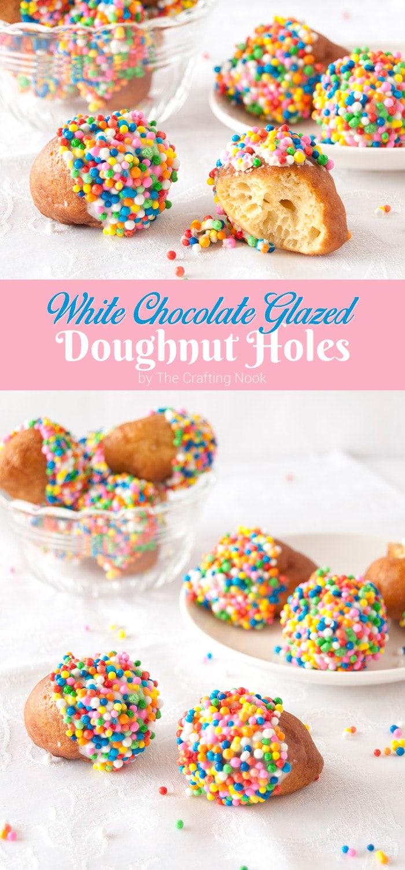 White Chocolate Glazed Doughnut Holes Recipe