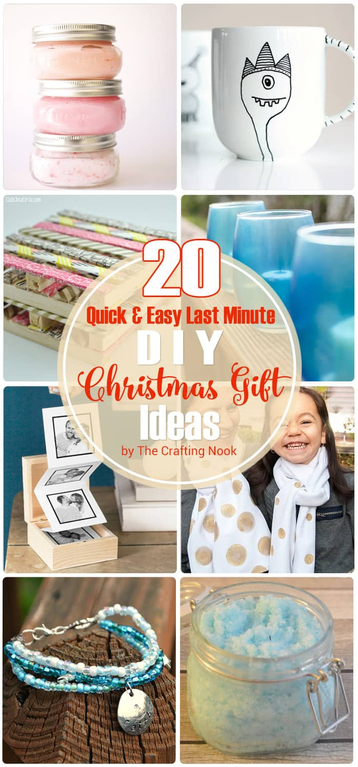 20 Quick & Easy Last Minute DIY Christmas Gifts