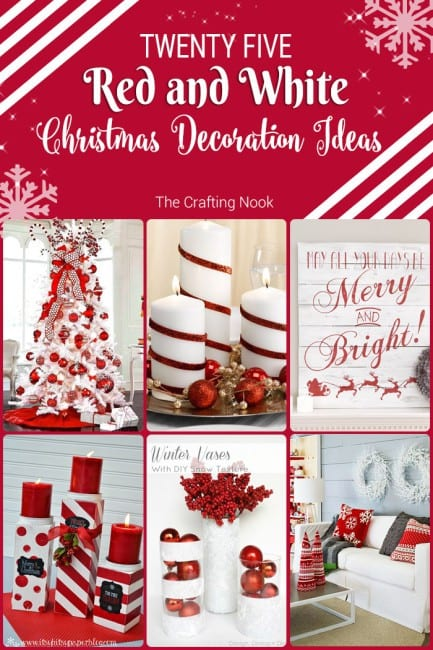 Collection of 25 Red and White Christmas Decoration Ideas