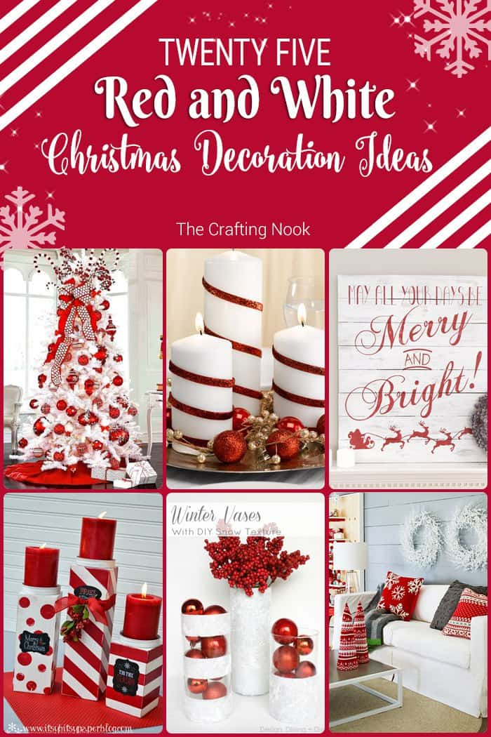 25 Red And White Christmas Decoration Ideas The Crafting
