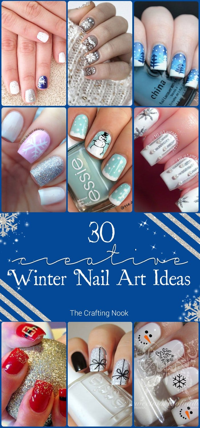 30 Creative Winter Nail Art Ideas to Try this Winter
