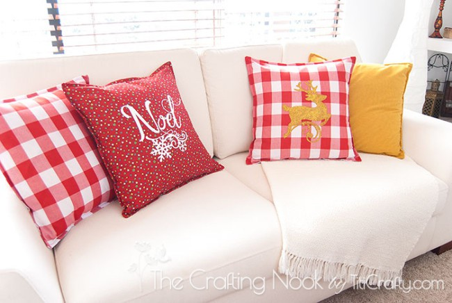 DIY-Red-and-White-Christmas-Pillows-gold