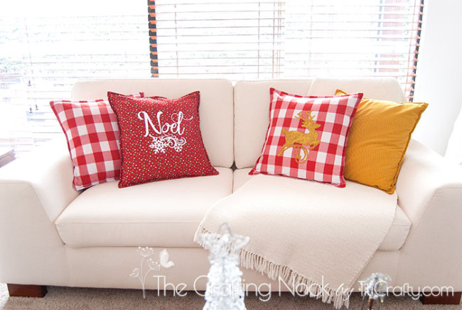 DIY-Red-and-White-Christmas-Pillows-plaid
