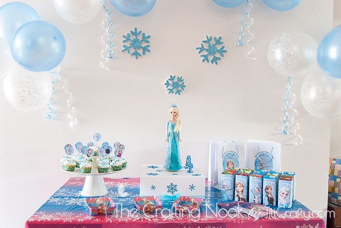 Frozen Themed Birthday Party The Crafting Nook by Titicrafty