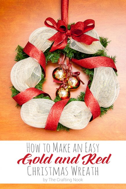 Learn How to Make an Easy Red and Gold Christmas Wreath