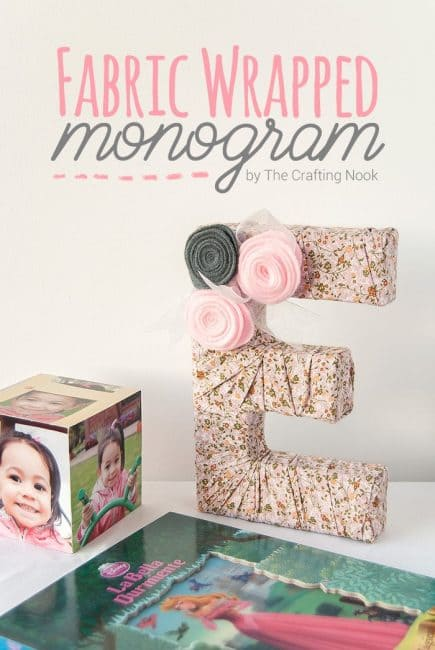 Cute and Easy Fabric Wrapped Monogram Tutorial