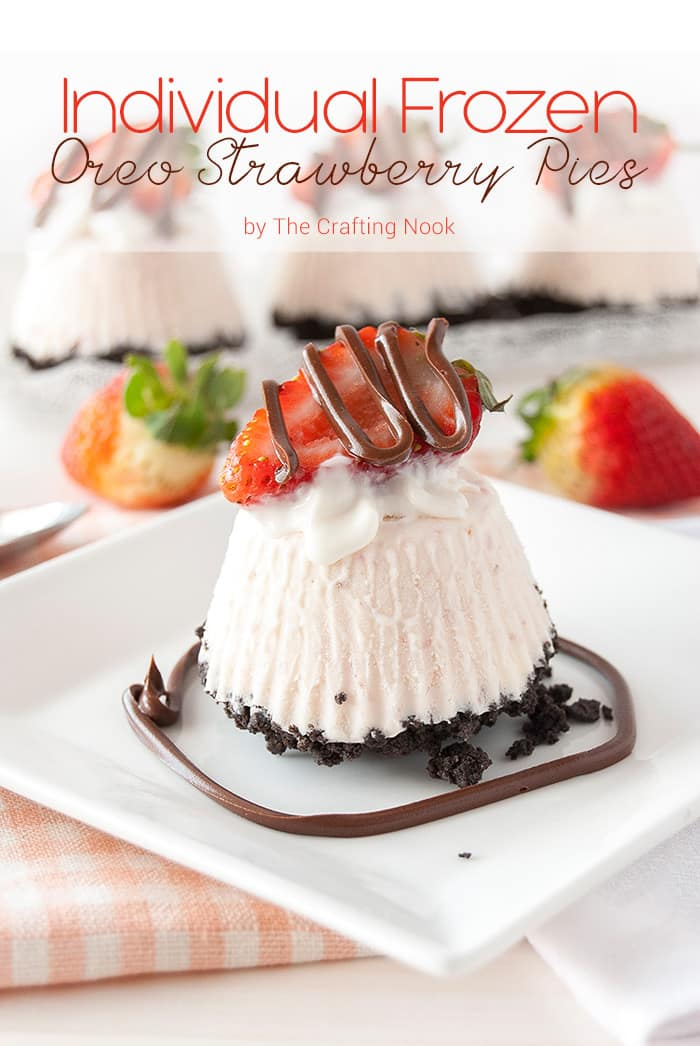 Cute and Delicious Individual Frozen Oreo Strawberry Pies
