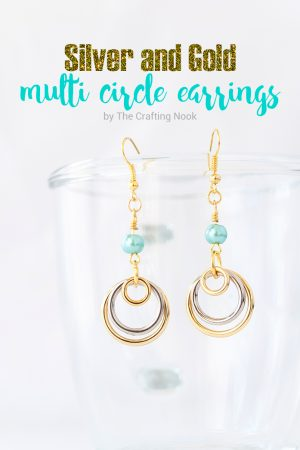 Silver and Gold Multi Circle Earrings