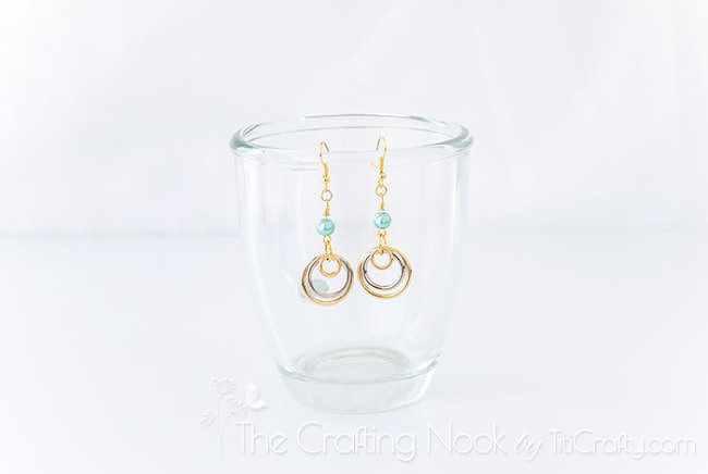 Silver-and-Gold-Multi-circle-Earrings-cute