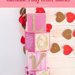 Lovely DIY Sparkling Love Valentine's Day Letter Blocks