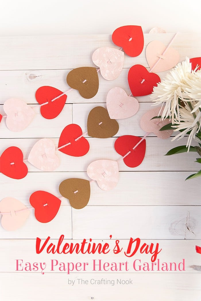 Cute Valentine's Day Easy Paper Heart Garland