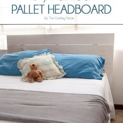 Cute and easy DIY Painted Pallet Headboard