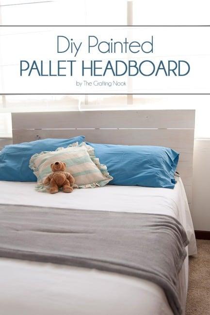Cute and easy DIY Painted Pallet Headboard