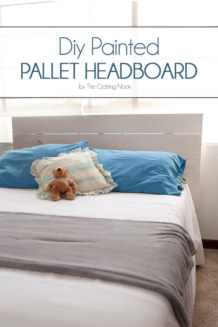 Diy Painted Pallet Headboard The Crafting Nook By Titicrafty