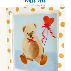 Beautiful BiriBiri Art Series: Cute Bear Paper Painting Wall Art