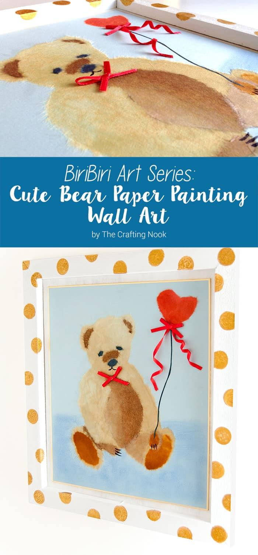 BiriBiri Art Series: Cute Bear Paper Painting Wall Art