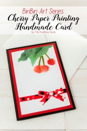 BiriBiri Art Series: Cherry Paper Painting Handmade Card