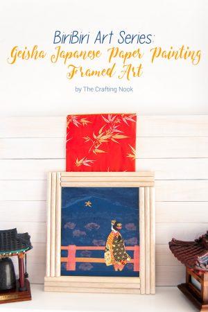 BiriBiri Art Series: Geisha Japanese Paper Painting Framed Art