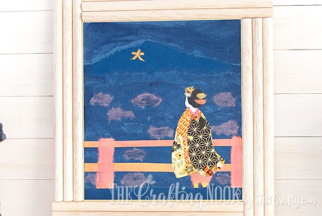 BiriBiri-Art-Series-Geisha-Japanese-Paper-Painting-Framed-Art-Collage