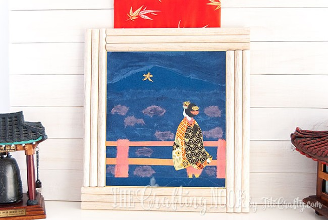 BiriBiri-Art-Series-Geisha-Japanese-Paper-Painting-Framed-Art-Collection