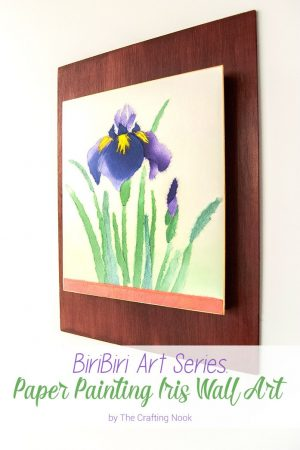 Lovely BiriBiri Art Series: Paper Painting Iris Wall Art