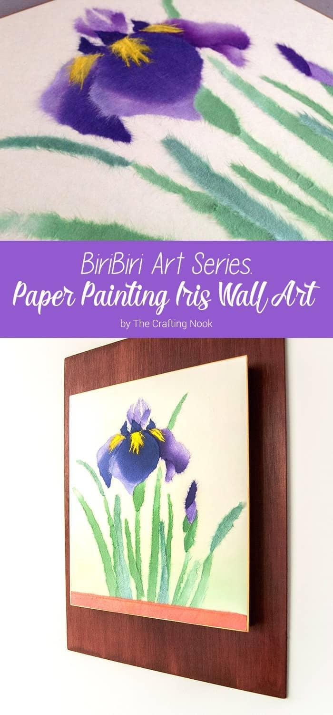 BiriBiri Art Series: Paper Painting Iris Wall Art