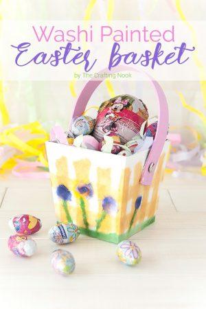 Washi Painted Easter Basket
