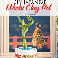 Cute DIY Japanese Washi Clay Pot