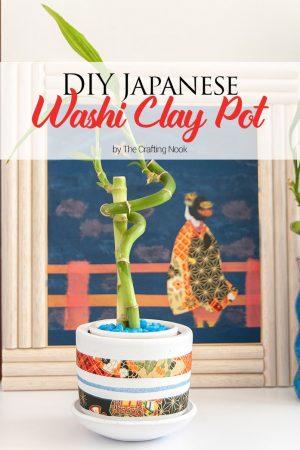 DIY Japanese Washi Clay Pot