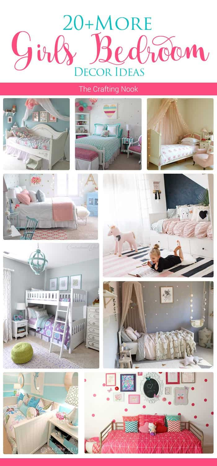20 more girls bedroom decor ideas the crafting nook by for Bedroom ideas for girls in their 20s