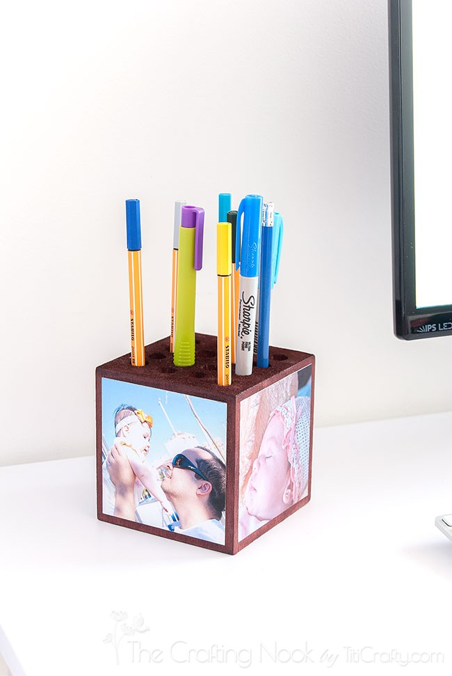 Photo-Wooden-Block-Pencil-Holder-Father-Gift